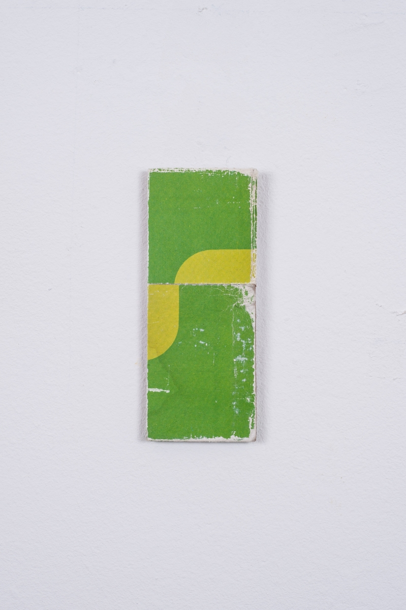 Yellow / Green, 2014, Collage, 8.9cm x 3.6cm