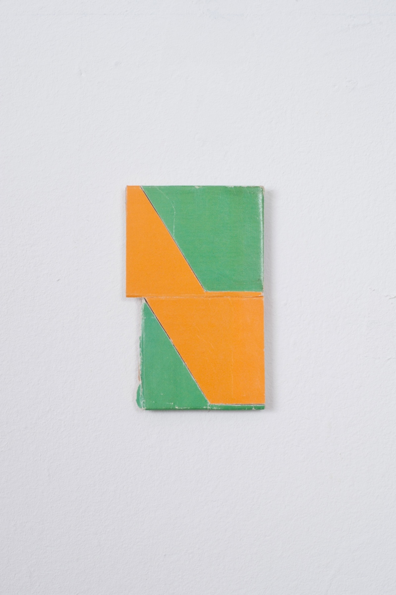 Orange / Green, 2014,Collage, 7.8cm x 4.7cm