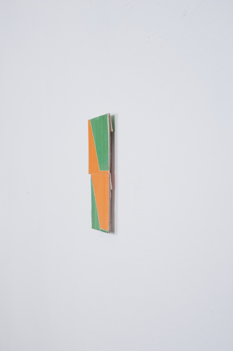 Orange / Green (detail), 2014, Collage, 7.8cm x 4.7cm