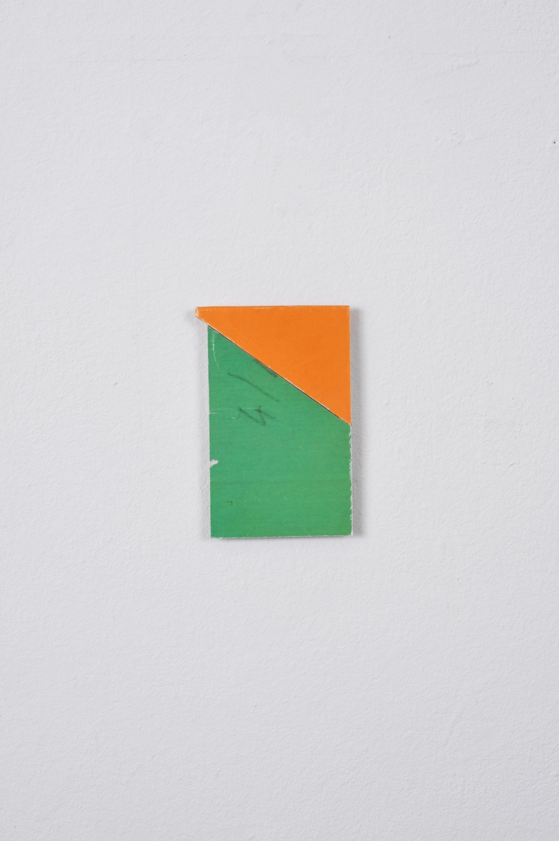 Green / Orange Diagonal, 2013, Collage, 6.6cm x 4.5cm