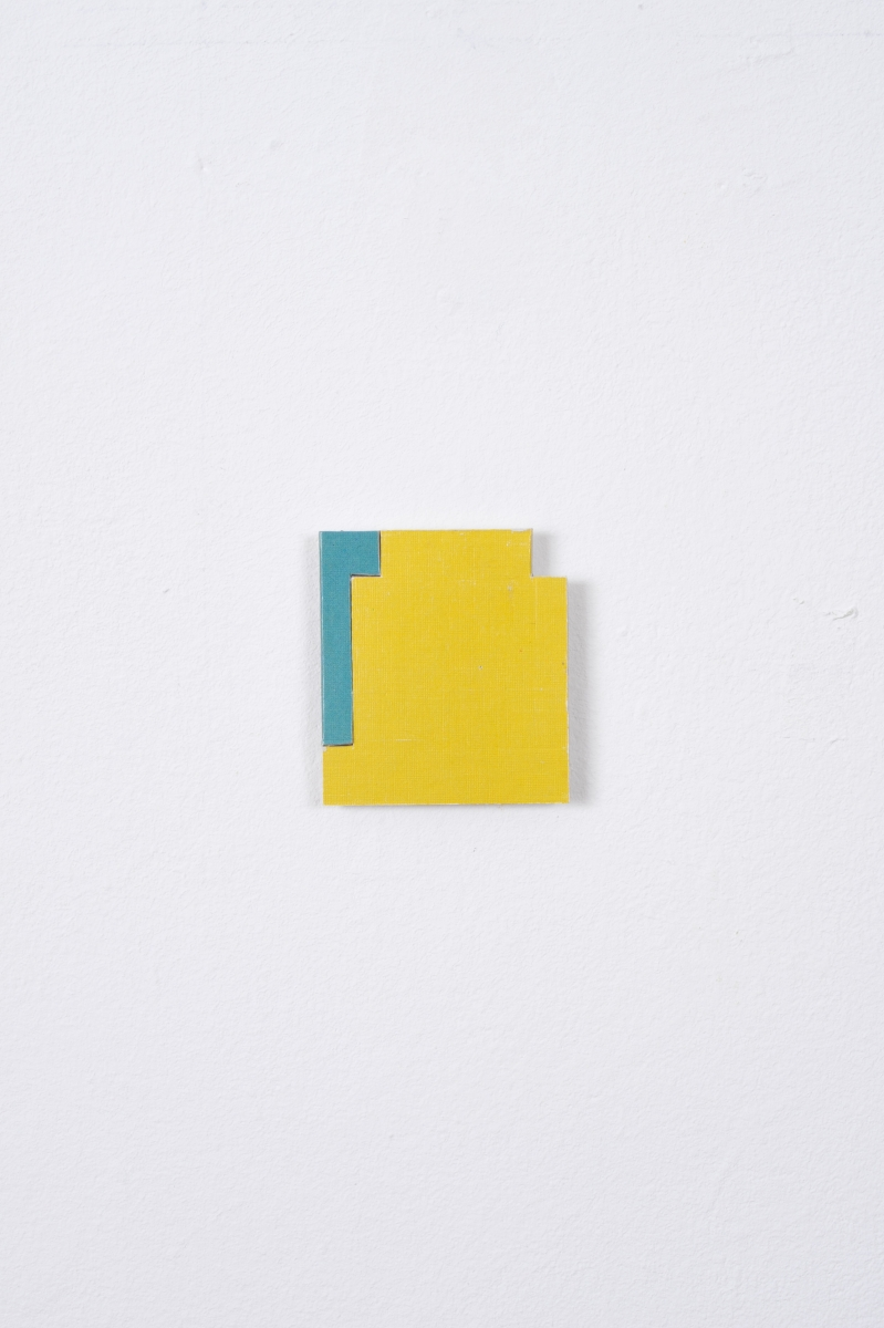 Blue / Yellow, 2013, Collage, 4.8cm x 4.2cm
