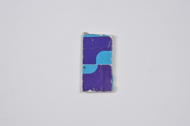 Blue / Purple, 2014, Collage, 6.2cm x 3.1cm