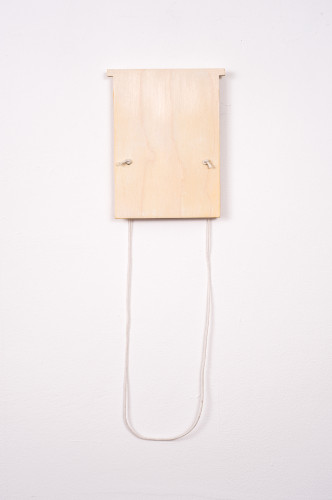 Swing, 2013. Plywood and string, dimensions variable