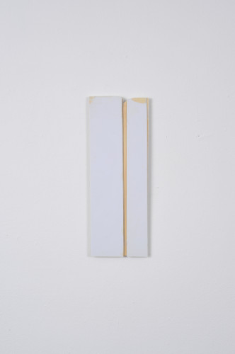 Found Painting, 2014. Plastic and adhesive, 23cm x 8cm