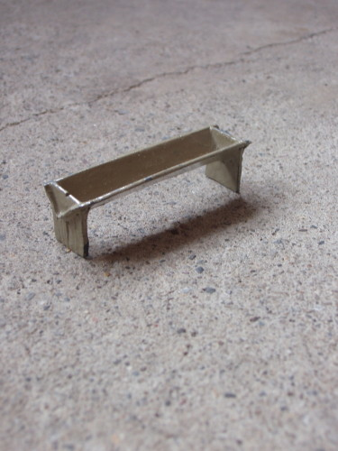 Trough, 2014. Painted lead, 6cm x 2.5cm x 2cm