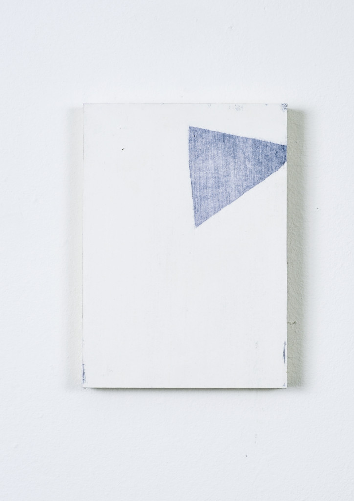 Abstract Drawing 1, 2014. Oil on gessoed paper and ply, 17.5cm x 12.5cm x 1.5cm
